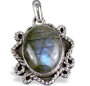 Design 13805: blue,green,gray labradorite ethnic pendants