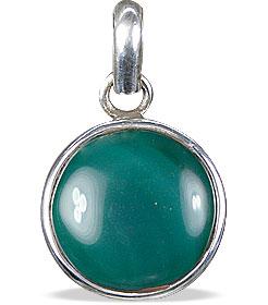 Design 13806: green onyx american-southwest pendants