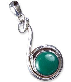 Design 13808: green onyx american-southwest pendants