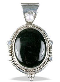Design 13810: black onyx american-southwest pendants