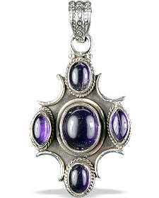 Design 13811: purple amethyst ethnic pendants