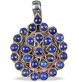 Design 13817: blue lapis lazuli ethnic pendants