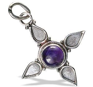 Design 13823: purple amethyst cross pendants