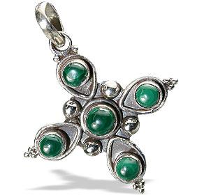 Design 13830: gray malachite cross, religious pendants