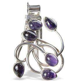 Design 13836: purple amethyst art-deco pendants