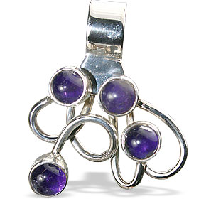 Design 13837: purple amethyst art-deco pendants