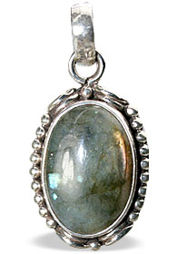 Design 13843: blue,brown,green labradorite american-southwest pendants