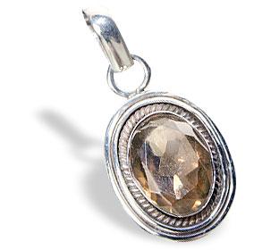 Design 13847: brown smoky quartz pendants