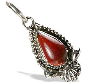 Design 13849: red onyx drop pendants