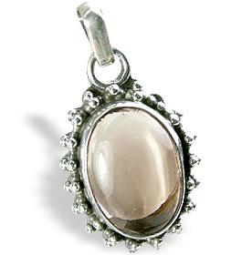 Design 13853: brown smoky quartz contemporary pendants
