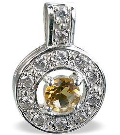 Design 14567: white,yellow citrine engagement, estate pendants