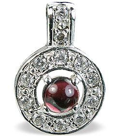 Design 14568: red,white garnet engagement, estate pendants