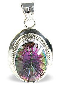 Design 14574: green,purple,multi-color mystic quartz pendants