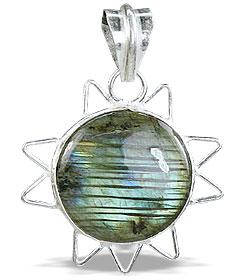 Design 14677: blue,green,white labradorite pendants