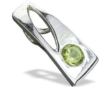 Design 14691: green peridot mini pendants