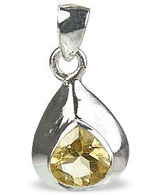 Design 14694: yellow citrine chunky, drop pendants