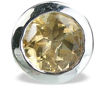 Design 14703: yellow citrine pendants