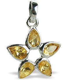 Design 14725: yellow citrine star pendants