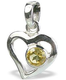Design 14735: yellow citrine pendants