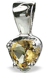 Design 14752: yellow citrine drop, mini pendants
