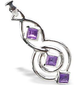 Design 14754: purple amethyst contemporary pendants