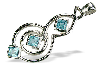 Design 14756: blue blue topaz pendants