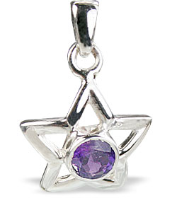 Design 14760: purple amethyst star pendants