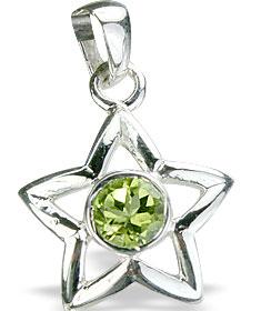 Design 14761: green peridot star pendants