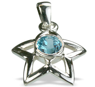 Design 14762: blue blue topaz star pendants