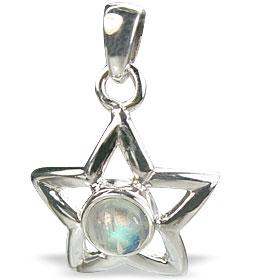 Design 14763: blue,white moonstone star pendants