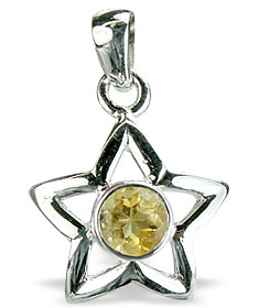 Design 14764: yellow citrine star pendants