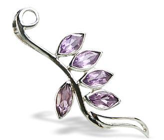Design 14771: purple amethyst leaf pendants