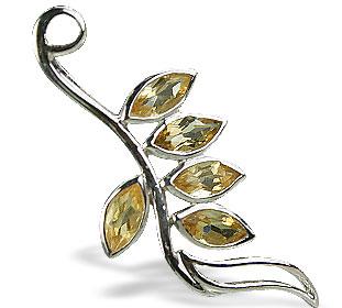 Design 14772: yellow citrine pendants