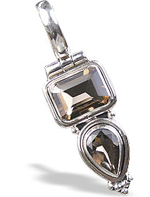 Design 14776: brown smoky quartz pendants