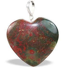 Design 14779: brown jasper heart pendants