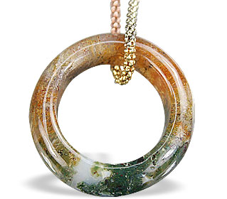 Design 14807: multi-color jasper pendants
