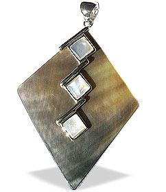 Design 14957: multi-color mother-of-pearl contemporary pendants