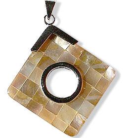 Design 14978: multi-color shell pendants