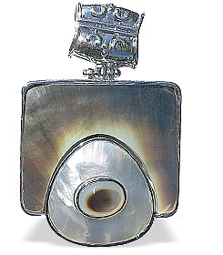 Design 15104: multi-color multi-stone chunky pendants