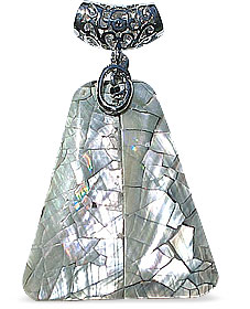 Design 15114: gray shell pendants