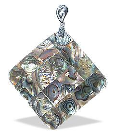 Design 15115: multi-color mother-of-pearl pendants
