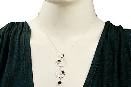 Design 15153: red garnet pendants