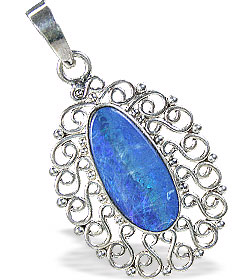 Design 15170: blue,multi-color opal pendants