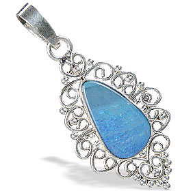 Design 15172: blue,multi-color opal pendants
