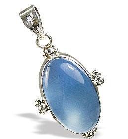 Design 15348: blue chalcedony pendants