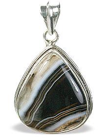 Design 15359: black,white onyx drop pendants