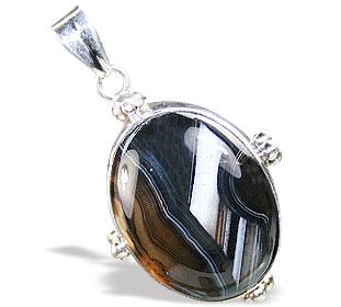 Design 15362: black,white onyx pendants