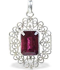 Design 15387: red garnet art-deco pendants