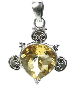 Design 15425: yellow citrine drop pendants