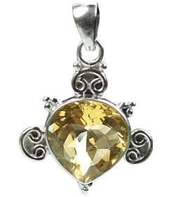 Design 15425: yellow citrine drop pendants